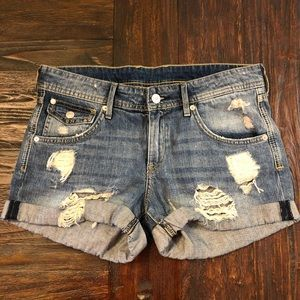 H&M &Denim Distressed Jean Shorts, Sz 6